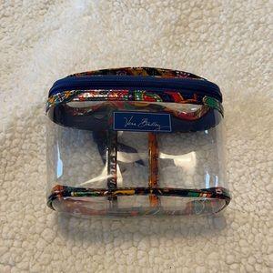 Small vera Bradley clear travel bag